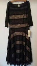 BNWT Sangria Missy Black / Nude Dress Size 6