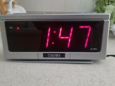 Cosmo Electric LED Alarm Clock -- Model E-801. Very Good Condition