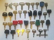 36 Heavy Equipment Key Cat Kubota, Komatsu Daewoo John Deere JCB JD NH Kobelco!