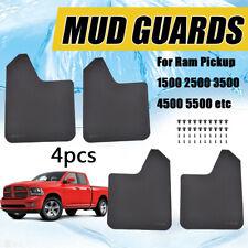 4Pcs Mud Flaps Mudflaps Splash Guards Fender Flares For Dodge Ram pickup 1500