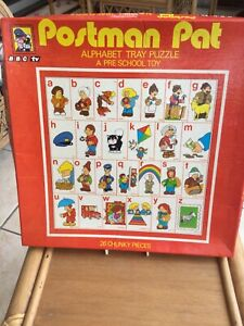 Vintage Postman Pat Alphabet Tray Puzzle - Used Pre School Toy From 1982