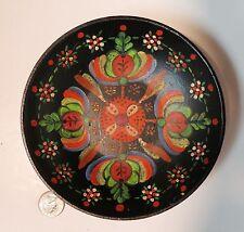 Vintage Pasadena California Painted Polish Style Plastic or Bakelite Bowl