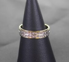 (Pa2) 9ct White and yellow gold illusion Band 2.5 Grams