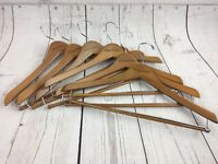 Case 50 Natural Wood Chrome Baby Child Kid Size Hangers w//Pant Clips 520502-50