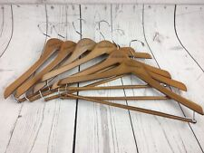Lot of 6 BROOKS BROTHERS - LOGO Wooden Suit Pants Shirt Hangers