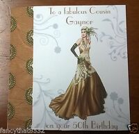 Ladies Handmade Personalised Birthday Card Dress Daughter Any Age 75th 85th Deco