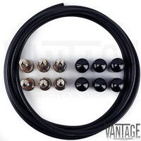 George L's .155 Solderless Black Right Angle Pedalboard Cable Kit - 6/6/6 Foot