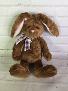 Gund Bunston Bunny Rabbit Brown Pink Floppy Ears Plush Stuffed Animal Toy Easter