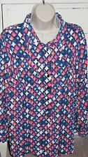 Gorgeous C J Banks Christopher & Banks 14W Multi Color Polyester Career Blouse