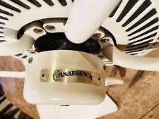 Casablanca White Ceiling Fan 54
