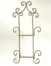 2 Picture Plate Hanger Holder Rack Scroll Art Wire Metal Wall Decor