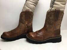 VTG WOMENS ARIAT FATBABY COWBOY BROWN BOOTS SIZE 6.5 B