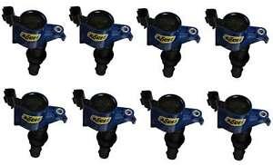 ACCEL 140033B-8 SuperCoil 2004-2008 Ford 4.6L/5.4L/6.8L 3-valve Blue 8 Pack
