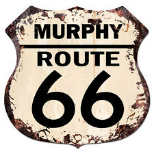 BPHR0058 MURPHY ROUTE 66 Shield Rustic Chic Sign  MAN CAVE Funny Decor Gift