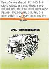 Deutz 912 913 914 f2l912 f3l912 bf 4l 913 f4l913 fl 913 Service Manual PDF CD