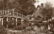 """FLATFORD Suffolk """"Constable's Country"""" Original Real Photo Postcard (84T)"""
