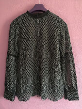 River Island Black Lace tunic Top Size 12 immaculate party evening night out 535