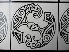 Huginn & Muninn Odins crow Norse stickers/car/van/bumper/window/decal 5415 Black