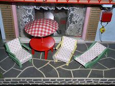 Alte Gartenmöbel für Puppenhaus Puppenstube Terrasse Balkon
