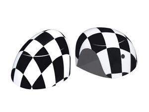 Checkered UK Side Mirror Cover Cap W Light For MINI Cooper F54 F55 F56 F57 F60