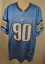 Reebok Detroit Lions #90 Ndamukong Suh NFL Authentic Jersey Adult Size 56 Blue