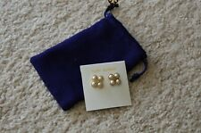Tory Burch rope clover pearl stud earring