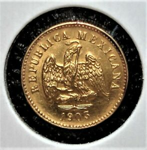 1903 Mo M Small Date Gold Peso from Mexico, Harder-to-Find Coin
