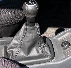 Opel Meriva a (Bj 2003-2010) MPV/Space wagon CUFFIA CAMBIO IN VERA PELLE NERA