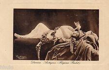 BD641 Carte Photo vintage card RPPC Femme Danses Antiques Regina Badet Chrysé