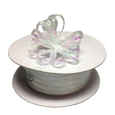 "1/8"" 50 Yards Organza Iridescent Center with String Pull Ribbon Bow  28 Colors"