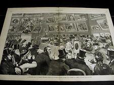 King Street London CHRISTIE MANSON WOODS AUCTION HOUSE BIDDERS 1875 Lg Print VF