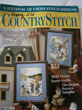 April 1990 Country Stitch Cross Back Issue Magazine Violet Easter Sampler Bunny