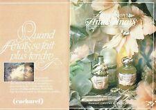 PUBLICITE ADVERTISING 027  1982  eau de parfum Anais Anais de Cacharel (2p)