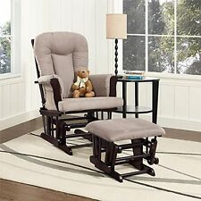 Baby Relax DA4041R-DC Glider Rocker and Ottoman, Espresso/Gray - NEW
