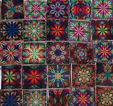 Ceramic Mosaic Tiles - Kaleidoscope Medallions Boho Gypsy Multi Colored Tiles