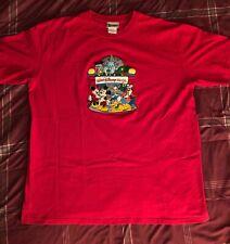 Vintage Walt Disney World embroider Red T-shirt Mens sz XL