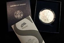 2008-W  AMERICAN EAGLE ONE OUNCE SILVER UNCIRCULATED COIN, MINT BOX AND COA
