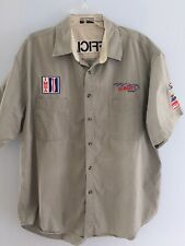 "Vintage IMSA ""Official"" Race Button Down Size XL Shirt With Patches Kenny Rogers"