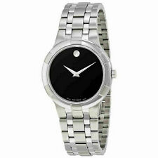 Movado Men's Watch Metio Quartz Black Dial Stainless Steel Bracelet 0606203