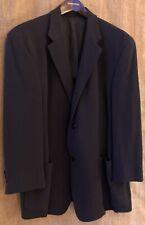 Dkny Marshall Fields Unlined Pure New Wool Black Blazer Sport Coat Jacket 43R