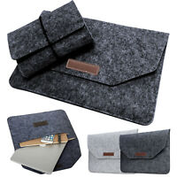 "Laptop Case Felt Bag Soft Cover Sleeve Pouch For 11"" 12"" 13"" 15"" Macbook Pro Air"