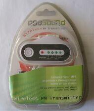 TRANSMISOR INALÁMBRICO PARA MP3, IPOD ETC.POD SOUND - USO EN CASA O AUTO RADIO