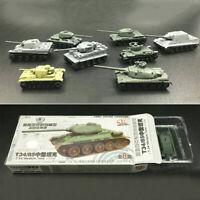 4D 8pcs Heavy Weapons Armor Assemble Tank 1:144 Thumb Plastic Model Kit Toy Gift