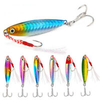 Minnow Lead Casting Feather Metal Fishing Lures Spinning Baits Jig Bait