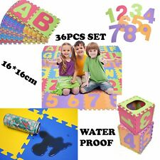 36pcs Large Alphabet Numbers EVA Floor play Mat Baby Room ABC foam Puzzle Jigsaw
