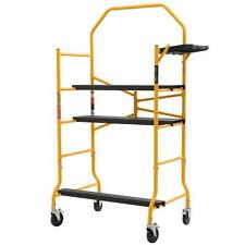 Scaffold 900 lbs. Job Site Workbench Portable Rolling Platform W/ Tool Tray New