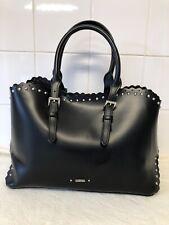 Carpisa Black PU Faux Leather Tote Handbag Bag