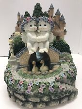DREAMSICLES Music Box Figurine Berkeley Design Cherubs Ducks Castles