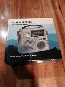 Grunding FR200 Emergency Radio. Hand Crank & Battery Powered. Stay Safe & Alert