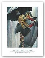 L'Amour sous le Parapluie Andrei Protsouk Figurative Art Print 18x24
